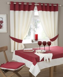 Stanford Ring Top Kitchen Curtains