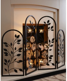Metal Screen With Tealight Holders