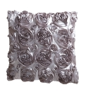 Arquette Satin Rose Filled Cushions