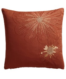 Hestia Floral Embroidered Cushion
