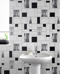 Contour NYC Tile Antibacterial Wallpaper