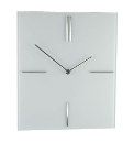 Square Glass Wall Clock