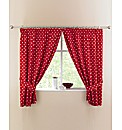 Polka Dot Kitchen Curtains