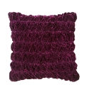 Rouched Velvet Filled Cushion