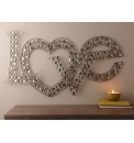 Love Wall Art with Crystals
