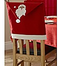 Set of 4 Santa Chair Backs