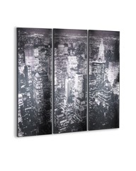 City Scene Triple Canvas Wall Art