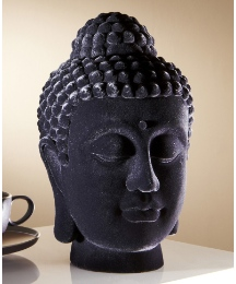 Flocked Buddha Head