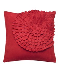 Faux Suede Swirl Cushion
