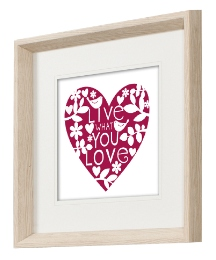 Live What You Love Framed Wall Art