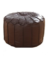 Faux Leather Morroccan Footstool