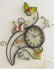 Butterfly Forest Wall Clock