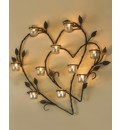 Love Hearts Tealight Holder Wall Art