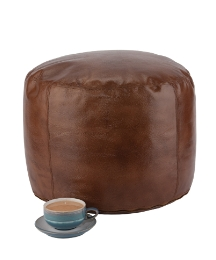 Genuine Leather Pouffe