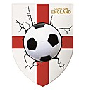 Come on England Football 3D Wall Light