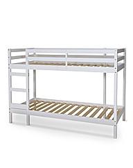 Denmark White Wooden Bunk Bed Frame