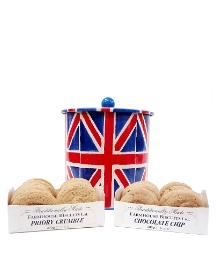 Union Jack Biscuit Barrel & Biscuits