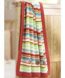 Lollipop Lane Herbs Garden Knit Blanket