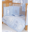 OBaby B is for Bear Quilt & Bumper Blue