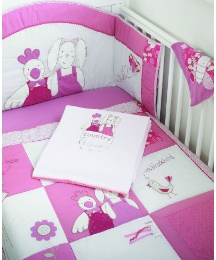 Country Kisses 5 Piece Bedding Set Pink