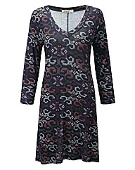 JOE BROWNS CROSS STITCH JERSEY TUNIC