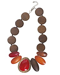 Joe Browns Wacky Wooden Necklace