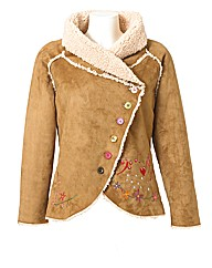 Joe Browns Mock Sheepskin Jacket