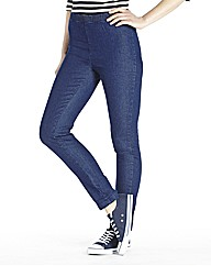 Pull On Slim Leg Jeggings - Short