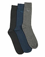 Pack of Three Ribbed Pringle Socks