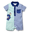 KD BABY Collared Romper