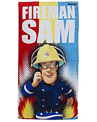 Personalised Fireman Sam Towel
