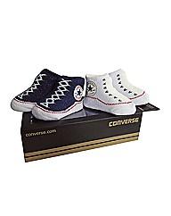 Converse 2 Pack of Bootie Socks