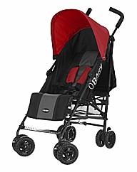 Obaby Atlas Stroller - Black and Red
