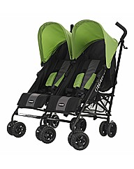 Obaby Apollo Twin Stroller - Lime