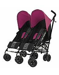 Obaby Apollo Twin Stroller - Pink