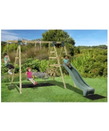 Plum Baboon Wooden Garden Swing Set