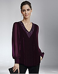 Together Bead Trim Velour Blouse £55.00 AT vintagedancer.com
