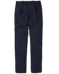 &City Plain Pleated Trousers 32in Leg