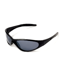 Viva La Diva Wraparound Black Sunglasses