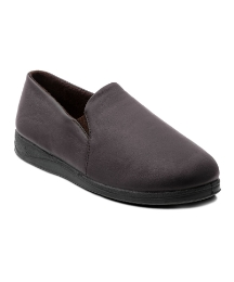 Padders Mens leather slip on slipper