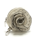 Malissa J Flower Purse Ivory