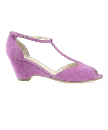 Van Dal Luzon Tlc Magenta Suede Wedges