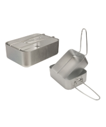 2PC Aluminium Mess Tins