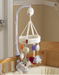 Clair de Lune ABC Cot Mobile