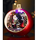 Light up Bauble with Santa Scene
