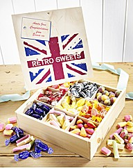 Personalised Retro Sweets Box