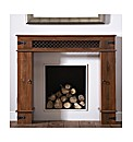 Sheesham Jali Wood Fire Surround