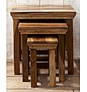 Agra Solid Sheesham Wood Nest of Tables