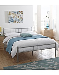 Phoenix Single Metal Bed With Mattress