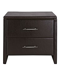 Madrid Two Drawer Bedside Table